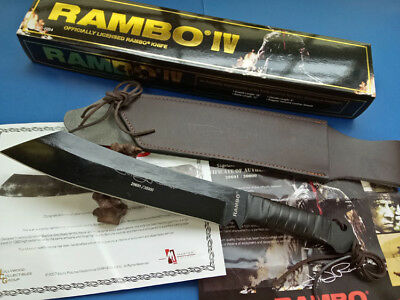 Power! Rambo First Blood Part Iv Licensed Sign Survival Hunting Camping Knife
