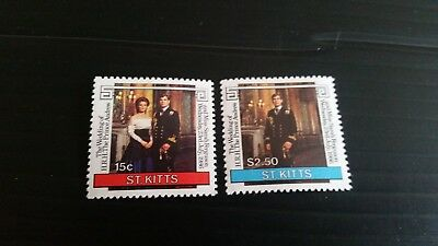St.kitts 1986 Sg 189-190 Royal Wedding Mnh