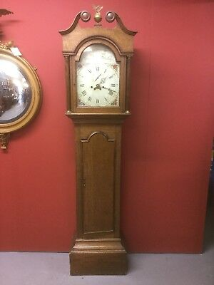 Antique Oak Long Case Clock Sn-p