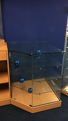 Retail Counter All Glass showcase cabinets shop display cases  clearance 90 x 74