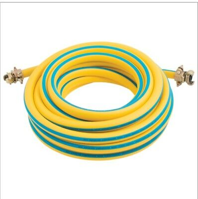 """Air Compressor Hose Assembly 15 Metres, 19Mm X 3/4"""" C/w Claw Couplings"""