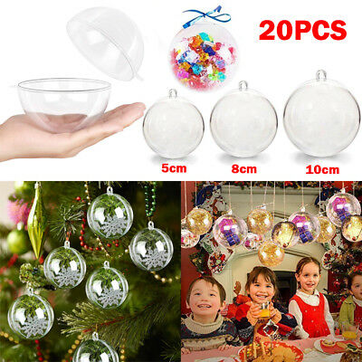 Weihnachtskugeln 20pcs Clear Christmas Ball Transparent 8cm Christbaumkugel Set