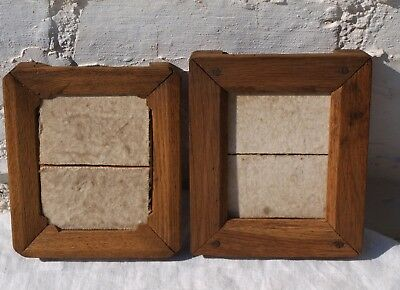 2 OLD WOODEN CONTACT PRINT PICTURE PHOTO FRAMES 2of3
