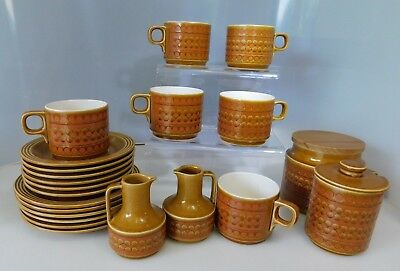 Vintage Hornsea Saffron Set of 6 Cups Saucers and Side Plates with other Items