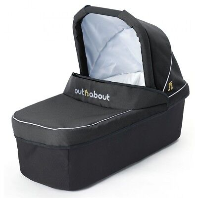 Out and About Nipper Double Carrycot i n Raven Black