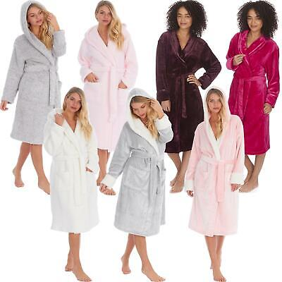 Womens/Ladies/Girls Super Soft Fleece Dressing Gown/Bathrobe/Robe Size 8 - 22