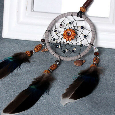 13 Inch Dream Catcher Peacock Feather Hanging Room Wall Decor Room Ornament Hot