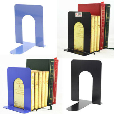 Bookend Form L-Metal Bookends Bookshelf Support School Office Books Hot