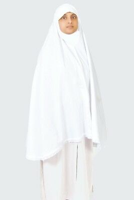 White Cotton Ladies Woman Ihram Ahram Ehram Hajj Umrah Scarf Hijab Head Cover