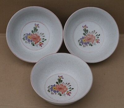 Denby  Summer Fields Bowls X3 Summerfields