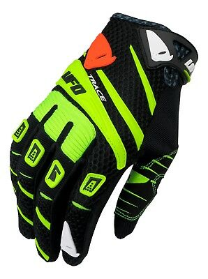 UFO 2019 MX Enduro Off Road MTB Gloves Trace Black Neon Yellow