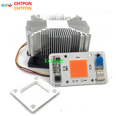 Dimmable LED COB Lamp Chip 50W with heatsink AC 110V 220V Input Smart IC Driver