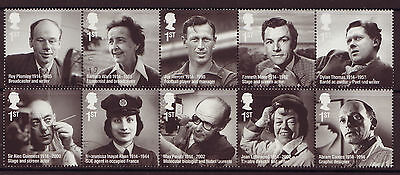 Great Britain 2014 Remarkable Lives Set Of 10 Fine Used