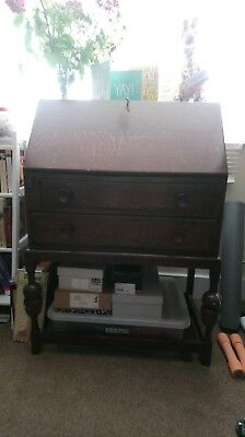 Vintage Bureau Solid Wood Writing Desk