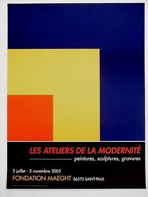 Ellsworth KELLY Affiche originale Litho Abstract Minimaliste American painter
