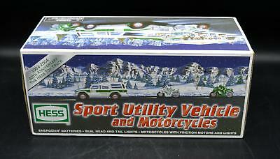 New Hess Gasoline 2004 Sport Utility Vehicle & Motorcycles - In Box