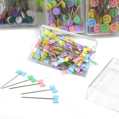 100Pcs Patchwork Craft Flower Button Head Pins Quilting Sewing Pins Tool tall