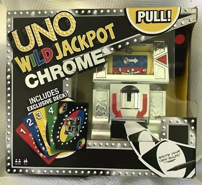 Uno Wild Jackpot Chrome Game Never Played Open Box Cards Sealed