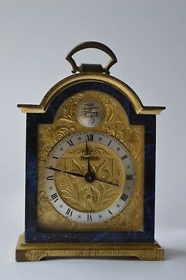 Vintage SWIZA Tempus Fugit Brass Miniature Carriage Clock / Alarm Swiss Made