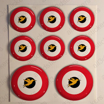Sticker Trinidad and Tobago Resin Domed Stickers Coat of Arms 3D Vinyl Adhesive