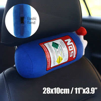 NOS Nitrous Oxide Bottle Tank Shape for Car Home Throw Pillow Plush Creative