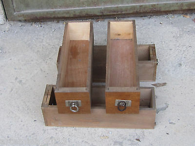 ANTIQUE LOT OF 4 German TREADLE SEWING MACHINE WOOD DRAWERS