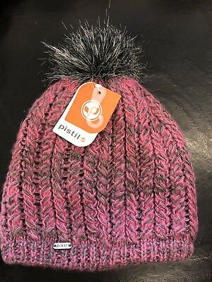 a4aadf4c13793 New Pistil Warm Women Avalon Knit Beanie Hat Pink Gray Pom Pom Warm Thick  Soft