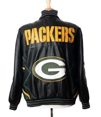 b37bc4e7f Carl Banks G-III Mens Size XL Green Bay Packers Vintage NFL 100% Leather