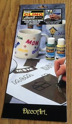 BLANK Create Your Own - Easy Cling Stencils Reusable For Glass, Tiles, Plastic