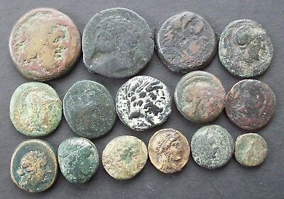 Ancient Greek Coins; Small group of bronzes, unidentified further