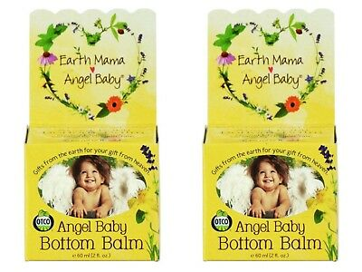 2 New Earth Mama Angel Baby Bottom Balm 2 fl. oz. each
