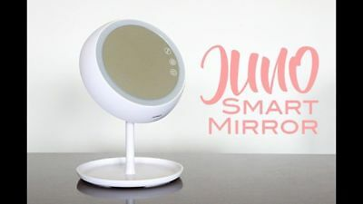 JUNO Smart Makeup Mirror - White New In Box. FREE PRIORITY MAIL SHIPPING.