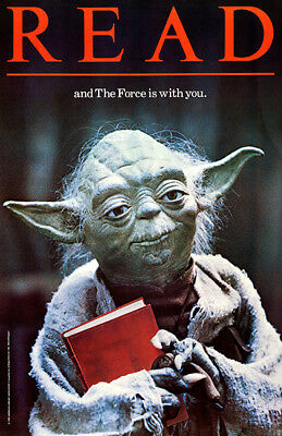 YODA - READ And The Force Is With You - 1983 - Library Poster