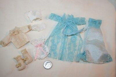Miniature Dollhouse 8 Pc Lingerie 4 Bridal Trousseau or Wardrobe Bra Bed Jacket+