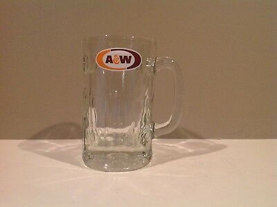 A&W Root Beer Advertising Heavy Glass Mug Stein