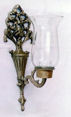 """12.5"""" Brass Wall Candle Lamp With Chimney Wall Sconce Candle Holder Home Decor"""
