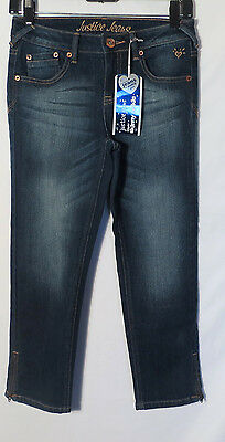 89b377ab03 NEW Girls JUSTICE Super Skinny Zipper Ankle Denim Jeans Size 14 New with  Tags