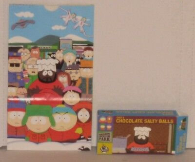 South Park Chef's Chocolate Salty Balls Candy Box Cheesy Poofs Popcorn Bag 1999