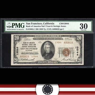 1929 $20 SAN FRANCISCO, CA National Currency PMG 30   A068619
