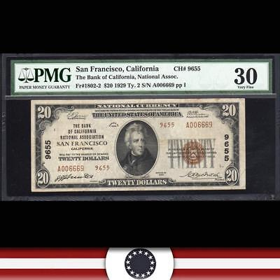 1929 $20 SAN FRANCISCO, CA National Currency PMG 30   A006669