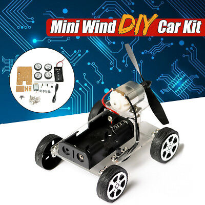 DIY Mini Wind Car 130 Brush Robot Kit For Arduino Kids Children Educational Toy
