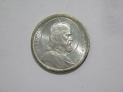 Hungary 1938 5 Pengo Crown Size Silver Toned Gem Unc World Coin Collection Lot