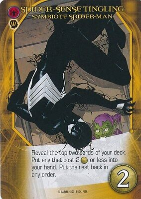 SYMBIOTE SPIDER-MAN BLACK COSTUME 2014 Upper Deck Marvel Legendary SENSE TINGLIN