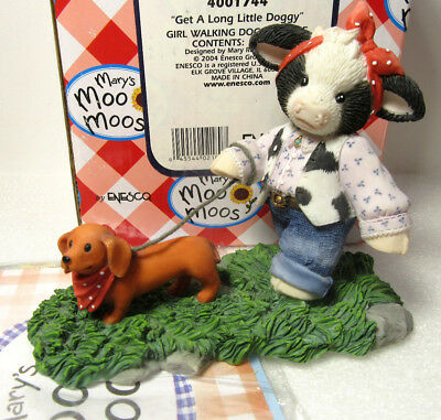 Mary's Moo Moos GET A LONG LITTLE DOGGY Dog Cow Figurine