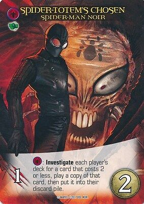 SPIDER-MAN NOIR Upper Deck Marvel Legendary NOIR SP SPIDER-TOTEM'S CHOSEN