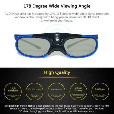 Acer/BenQ/Sony/Optoma DLP-Link Projector Active Shutter 3D Glasses Wide Angle