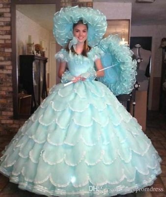 3d7299b380 Vintage Ball Gown Quinceanera Dress Tiered Girls Party Pageant Evening Prom  Gown