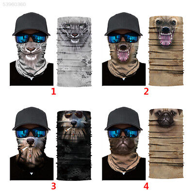 1CAC Animal Pattern Polyester Face Mask Riding Mask Creative Head Scarf Skiing