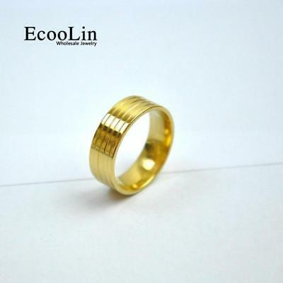 1pc Gold Stainless Steel Ring Classic Design New Jewelry For Men Fashion CFP