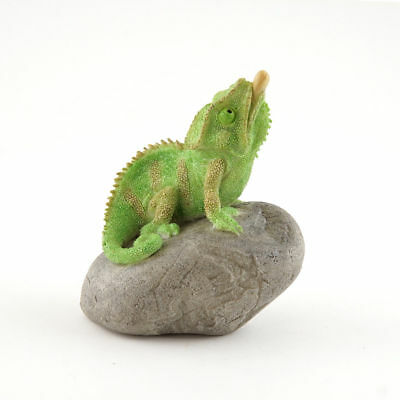 My Fairy Gardens Mini Chameleon on Rock Supplies Accessories Figure Miniature